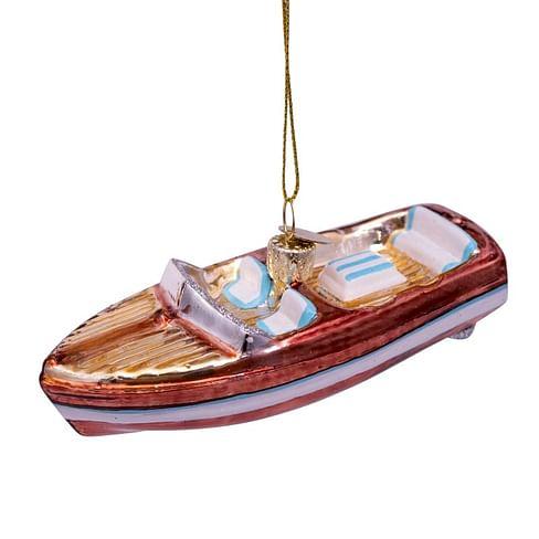 Новогоднее украшение Vondels Brown/white boat Арт.1192700035013