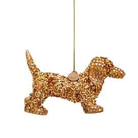 Новогоднее украшение Vondels Gold dog allover sequins Арт.3182250070013