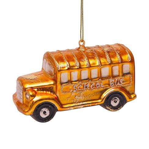 Новогоднее украшение Vondels Schoolbus gold Арт.1162720060036