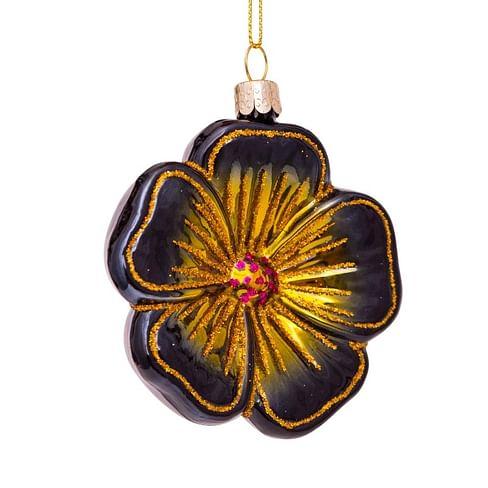 Новогоднее украшение Vondels Black flower Арт.5197000080028