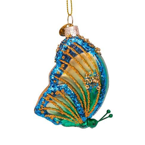 Новогоднее украшение Vondels Small green butterfly Арт.5192300080013