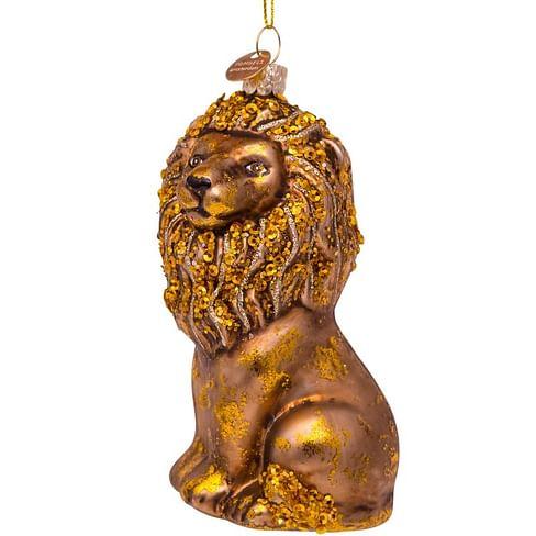 Новогоднее украшение Vondels Gold sitting lion Арт.5192200120017
