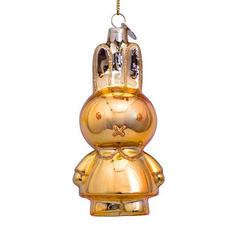 Новогоднее украшение Vondels Nijntje/Miffy allover shiny gold Арт.5181234110026