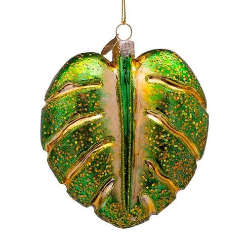 Новогоднее украшение Vondels Green monstera leaf Арт.4187000100018