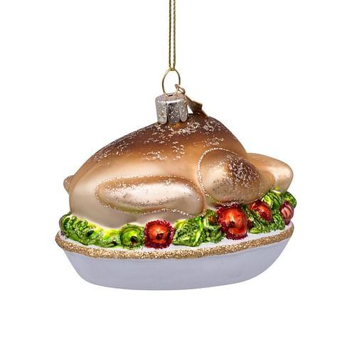 Новогоднее украшение Vondels Turkey on plate Арт.3207000060059