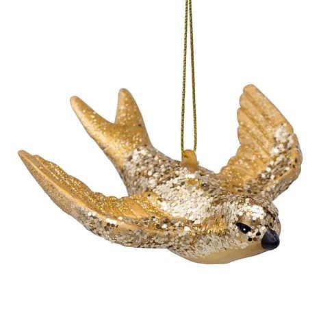 Новогоднее украшение Vondels Gold swallow Арт.3207000050012