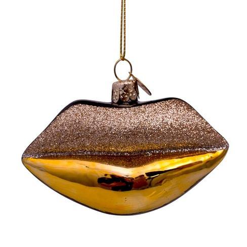 Новогоднее украшение Vondels Gold w/black and glitter lips Арт.3187000060016