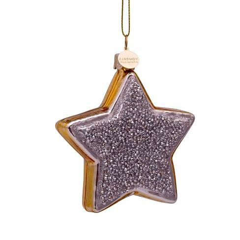 Новогоднее украшение Vondels Star silver/gold Арт.3182840080019