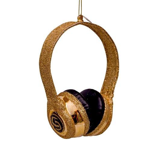 Новогоднее украшение Vondels Gold glitter headset Арт.3182800120014