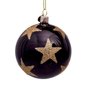 Новогоднее украшение Vondels Black w/big gold stars Арт.4181290080036