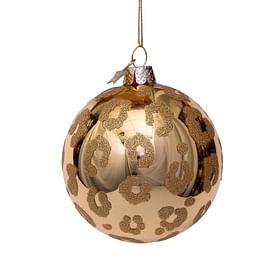 Новогоднее украшение Vondels Gold shiny w/panther print Арт.4202200080059