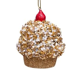 Новогоднее украшение Vondels Cupcake gold allover glitters cherry on Арт.3162810080034