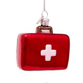 Новогоднее украшение Vondels Red doctor bag with cross Арт.2197000065011