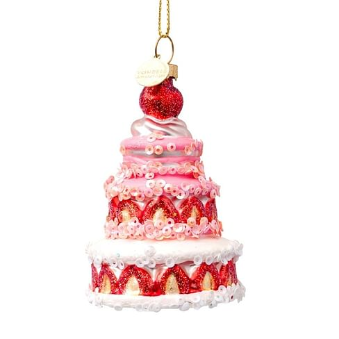 Новогоднее украшение Vondels Multi strawberry cake Арт.2172810090019