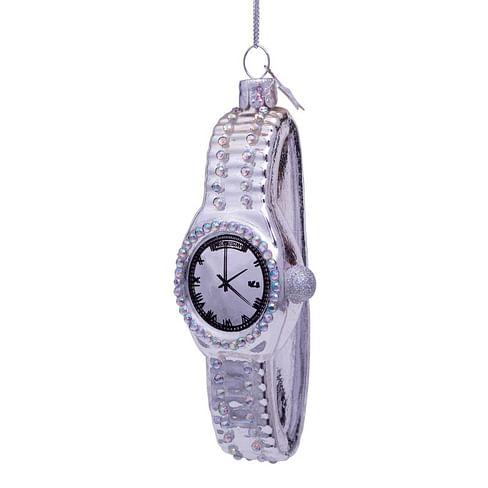 Новогоднее украшение Vondels Silver watch w/diamonds Арт.1202740115016