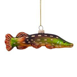 Новогоднее украшение Vondels Green pike fish Арт.1192430030012