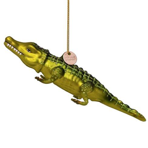 Новогоднее украшение Vondels Green crocodile Арт.1192430025056