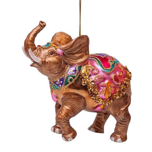 Новогоднее украшение Vondels Decorated elephant Арт.1162270110014