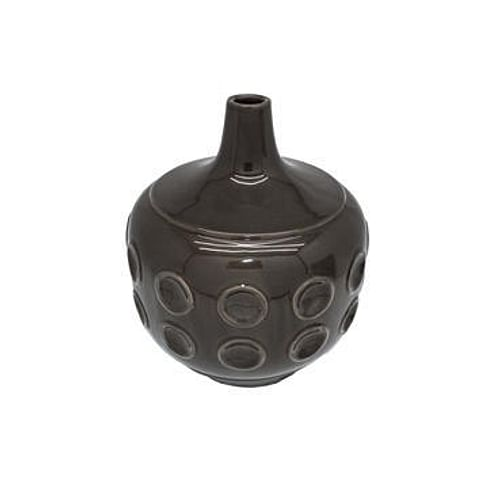 Ваза Dome Deco ceramics low with dots M Арт.V2-C193/BR