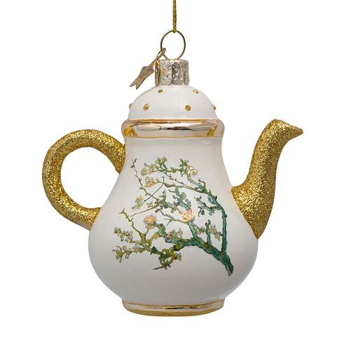 Новогоднее украшение Vondels Van Gogh blossom gold teapot Арт.3207000100090