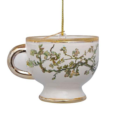 Новогоднее украшение Vondels Van Gogh blossom gold teacup Арт.3207000060011