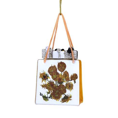 Новогоднее украшение Vondels Van Gogh Sunflower gift bag Арт.3207000100137