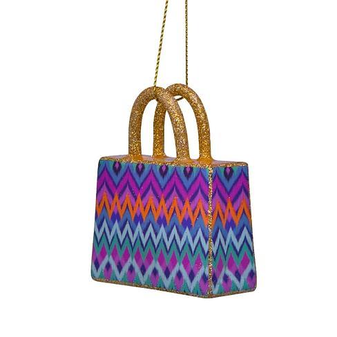 Новогоднее украшение Vondels Pink/blueshopper w/stripes print Арт.5212250070015