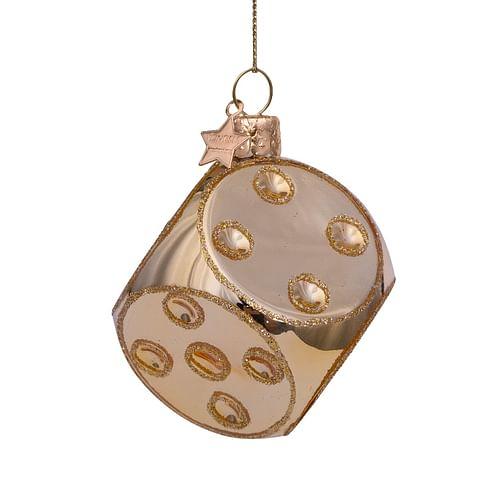 Новогоднее украшение Vondels Shiny gold dice Арт.4217000050010