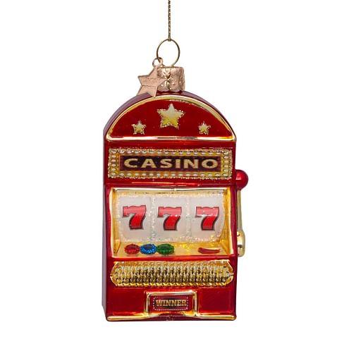 Новогоднее украшение Vondels Red shiny slot machine Арт.4217000105055