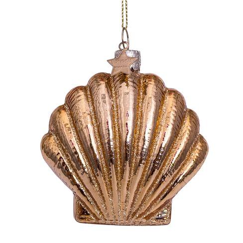 Новогоднее украшение Vondels Shiny gold shell Арт.3212460075017