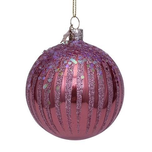 Новогоднее украшение Vondels Blush opal w/pink fireworks Арт.2211290080339