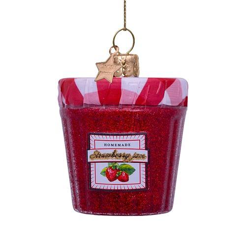 Новогоднее украшение Vondels Red strawberry jam jar Арт.5212800070014