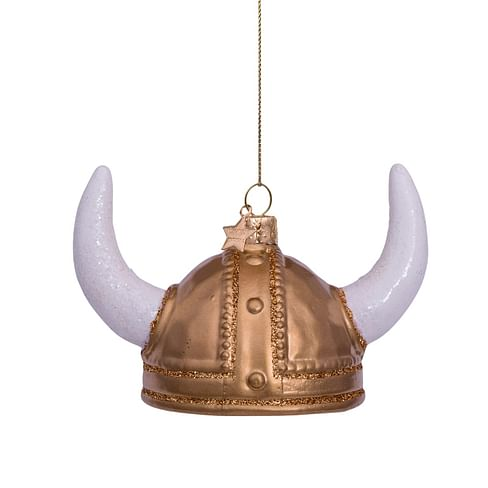 Новогоднее украшение Vondels Gold mattviking helmet Арт.4217000060019