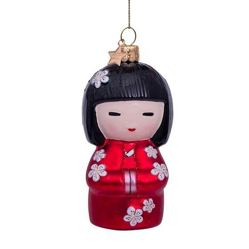 Новогоднее украшение Vondels Red matt lady w/kimono Арт.4217000105031