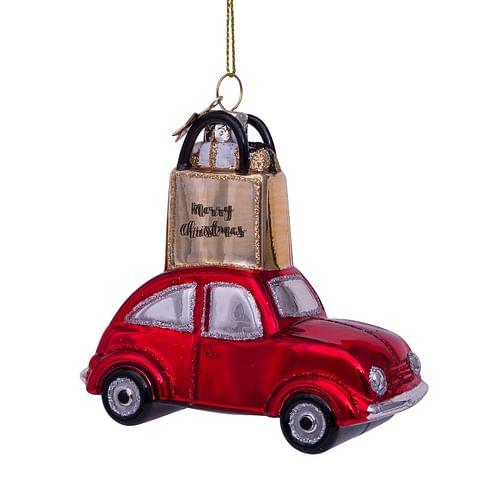 Новогоднее украшение Vondels Red car w/gold shoppingbag Арт.3212720090019
