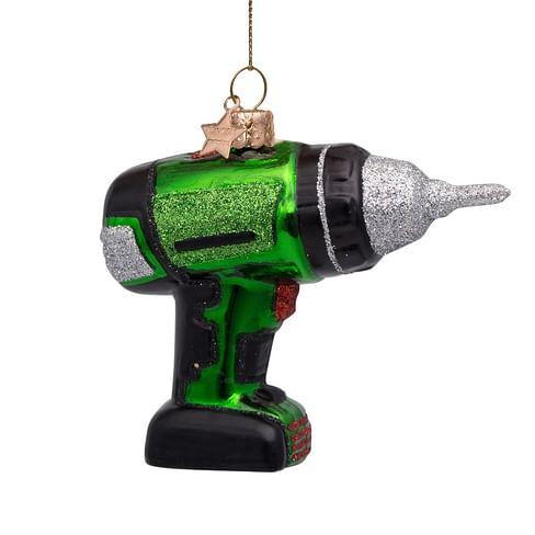 Новогоднее украшение Vondels Green drill machine Арт.1212800085012