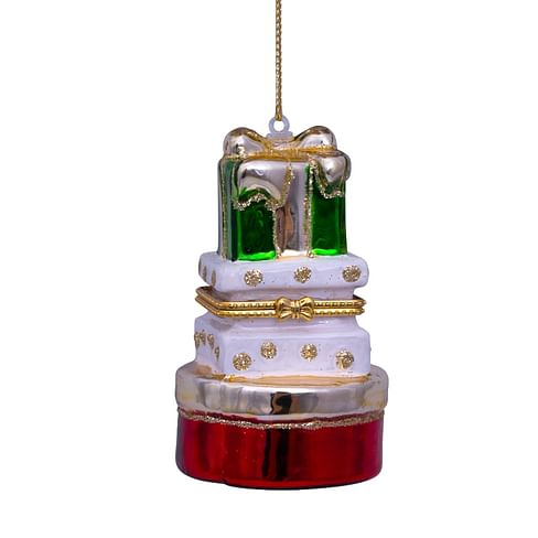 Новогоднее украшение Vondels Red and green opalgift boxes w/opening Арт.1217000090019