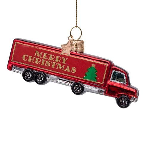 Новогоднее украшение Vondels Red truck w/merry christmas Арт.1212720050015