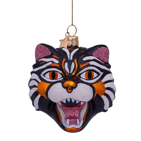 Новогоднее украшение Vondels Orange tiger head Арт.4212200090057