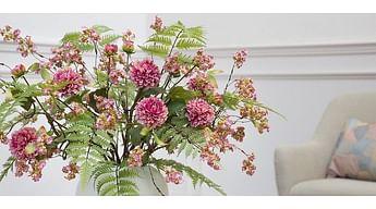Искусственные цветы в интерьере: как изменить все до неузнаваемости