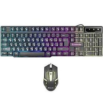 Клавиатура + мышь Defender Комплект ПРОВОДНОЙ Клавиатура + мышь Defender Sydney C-970 Black (USB) (мышь проводная USB (сенсор оптический), клавиатура мембранная, USB, цвет черный) (45970)