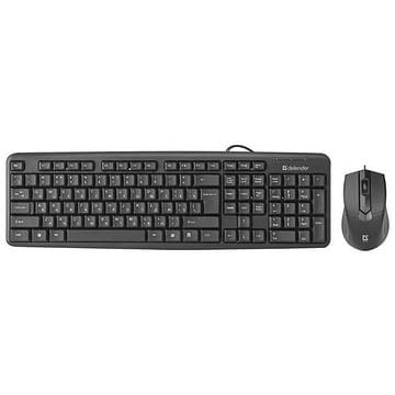 Клавиатура + мышь Defender Комплект ПРОВОДНОЙ Клавиатура + мышь Defender Dakota C-270 Black (USB) (мышь проводная USB (сенсор оптический), клавиатура USB, цвет черный)