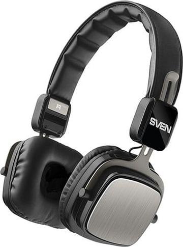 Наушники SVEN Наушники с микрофоном SVEN AP-B530MV (Black)(беспроводные наушники с микрофоном, портативные, складные, оформление закрытое, излучатель 40 мм, 20-20000 Гц, 32 Ом, кабель 0.8 м, расстояние 10 м)