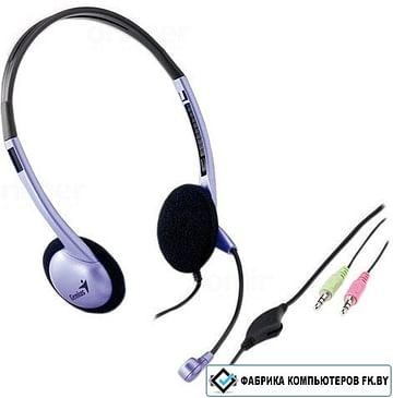Наушники Genius Наушники с микрофоном Genius HS-02B (наушники с микрофоном, оформление полуоткрытое, регулировка громкости)