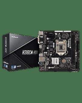 Материнская плата Asrosk MB ASRock H310CM-DVS Soc-1151 (H310) PCI-E Dsub+DVI GbLAN SATA MicroATX 2DDR4 RTL
