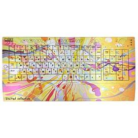 Клавиатура CBR Picture;Keyboard Splashes Yellow-Pink USB CBR
