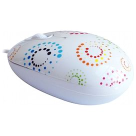 Мышь CBR Rainbow White USB CBR