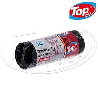 Пакет для мусора MIX 50*60/35л 15шт. (черный с ушами) Качество! Top pack
