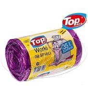 Пакет для мусора MIX 50*60/35л 100шт. (фиолетовый с ушами) Качество! Top pack