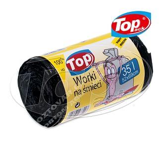 Пакет для мусора MIX 50*60/35л 100шт. (черный с ушами) Качество! Top pack